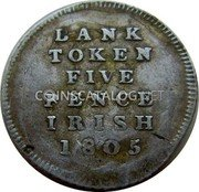 Ireland 5 Pence Token 1805 KM# Tn2 Token Coinage coin reverse