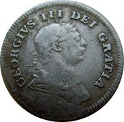 Ireland 5 Pence Token George III 1805 KM# Tn2 GEOGRIVS III DEI GRATIA coin obverse