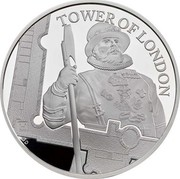 UK 5 Pounds Tower of London - The Yeoman Warders Piedfort 2019 Proof TOWER OF LONDON GD coin reverse