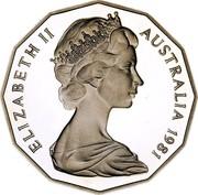 Australia 50 Cents 50th Anniversary of Dodegagon 50c 2019 KM# 68.1 ELIZABETH II AUSTRALIA 2019 coin obverse