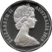 Australia 50 Cents 50th Anniversary of Dodegagon Silver 50c 2019 Proof KM# 68a ELIZABETH II AUSTRALIA 2019 coin obverse
