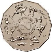 Australia 50 Cents Commonwealth Games Melbourne 2005 Proof KM# 769a MELBOURNE 2006 50 XVIII COMMONWEALTH GAMES coin reverse