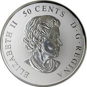 Canada 50 Cents Everlasting Canadian Icons 2019 ELIZABETH II 50 CENTS D • G • REGINA SB coin obverse