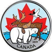 Canada 50 Cents (Everlasting Canadian Icons) DB 2019 CANADA coin reverse