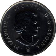 Canada 50 cents Montreal Canadians 2009 D.G.REGINA ELIZABETH II 50 CENTS coin obverse