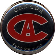 Canada 50 cents Montreal Canadians 2009 1909 2009 CANADA coin reverse