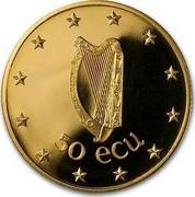 Ireland 50 ECU Irish Presidency 1990 X# 3 50 ECU coin obverse
