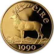 Ireland 50 ECU Irish Presidency 1990 X# 3 ÉIRE 1990 coin reverse