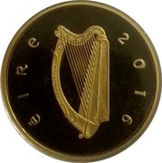 Ireland 50 Euro 100th Anniversary of the proclamation of the Irish Republic 2016 Proof KM# 91 ÉIRE 2016 coin obverse