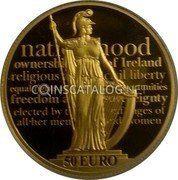 Ireland 50 Euro 2016 Proof KM# 91 Euro Coinage coin reverse