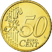 Ireland 50 Euro Cent 1st map 2006 KM# 37 50 EURO CENT LL coin reverse