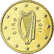 Ireland 50 Euro Cent 2nd map 2011 Proof KM# 49 ÉIRE 2007 coin obverse