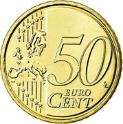 Ireland 50 Euro Cent 2nd map 2011 Proof KM# 49 50 EURO CENT LL coin reverse