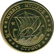 Cyprus 50 Euro Cent Trial prueba muster 2004 UNC X# Pn6 ΚΥΠΡΟΣ • KIBRIS 20 04 CYPRUS coin obverse