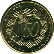 Cyprus 50 Euro Cent Trial prueba muster 2004 UNC X# Pn6 TRIAL • ESSAI • PRUEBA • MUSTER 50 coin reverse