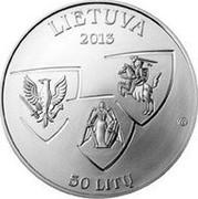 Lithuania 50 Litu 150th Anniversary of January Uprising 1863-1864 2013 Proof KM# 197 LIETUVA 2013 LMK 50 LITŲ coin obverse