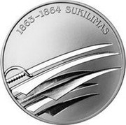 Lithuania 50 Litu 150th Anniversary of January Uprising 1863-1864 2013 Proof KM# 197 1863 - 1864 SUKILIMAS coin reverse