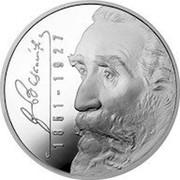 Lithuania 50 Litu 150th birth anniversary of Jonas Basanavicius 2001 Proof KM# 130 JBASANAVICIUS 1851 - 1927 coin reverse