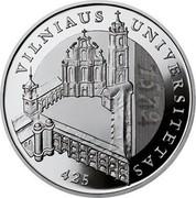 Lithuania 50 Litu 425th anniversary of Vilnius University 2004 Proof KM# 138 VILNIAUS UNIVERSITETAS 425 coin reverse