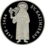Lithuania 50 Litu 550th Birth Anniversary of St Casimir 2008 Proof KM# 154 1458 - 1484 ŠV. KAZIMIERAS coin reverse
