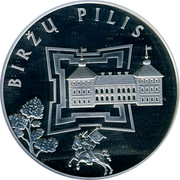 Lithuania 50 Litu Birzai Castle 2010 Proof KM# 170 BIRŽŲ PILIS coin reverse