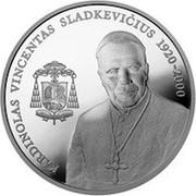 Lithuania 50 Litu Cardinal Vincentas Sladkevicius 2005 Proof KM# 145 KARDINOLAS VINCENTAS SLADKEVIČIUS 1920-2000 coin reverse