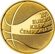 Lithuania 50 Litu European Basketball Championship 2011 Proof KM# 176 2011 EUROPOS KREPŠINIO ČEMPIONATAS coin reverse