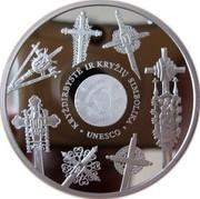 Lithuania 50 Litu European Cultural Heritage 2008 Proof KM# 153 KRYŽDIRBYSTĖ IR KRYŽIU SIMBOLIKA ∙ UNESCO ∙ coin reverse