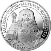 Lithuania 50 Litu Grand Duke Algirdas 1998 Proof KM# 110 ALGIRDAS DIDYSIS LIETUVOS KUNIGAIKŠTIS 1345 - 1377 coin reverse