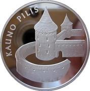 Lithuania 50 Litu Kaunas castle 2008 Proof KM# 155 KAUNO PILIS coin reverse