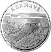 Lithuania 50 Litu Kernave 2005 Proof KM# 143 KERNAVĖ UNESCO PASAULIO PAVELDAS coin reverse