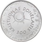Lithuania 50 Litu Kristijonas Donelaitis 2014 Proof KM# 204 KRISTIJONAS DONELAITIS 300 coin reverse