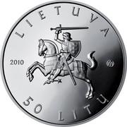 Lithuania 50 Litu Lithuanian nature - European weatherfish 2010 Proof KM# 171 LIETUVA 2010 LMK 50 LITŲ coin obverse