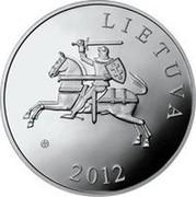 Lithuania 50 Litu Lithuanian nature - Pond Turtle 2012 Proof KM# 178 LIETUVA LMK 2012 coin obverse