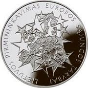 Lithuania 50 Litu Lithuania's Presidency of the Council of the European Union 2013 Proof KM# 196 LIETUVOS PIRMININKAVIMAS EUROPOS SĄJUNGOS TARYBAI coin reverse