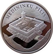 Lithuania 50 Litu Medininkai Castle 2006 Proof KM# 149 MEDININKŲ PILIS coin reverse