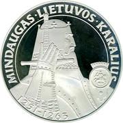 Lithuania 50 Litu Mindaugas - the King of Lithuania 1996 LMK Proof KM# 102 MINDAUGAS ∙ LIETUVOS ∙ KARALIUS 1251 - 1263 coin reverse