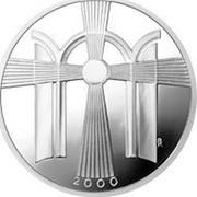 Lithuania 50 Litu New Millennium 2000 Proof KM# 128 BR 2000 coin reverse