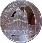 Lithuania 50 Litu Tytuvenai architectural ensemble 2009 Proof KM# 164 ARCHITEKTŪRINIS ANSAMBLIS TYTUVĖNAI coin reverse