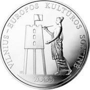 Lithuania 50 Litu Vilnius - European Culture Capital 2009 Proof KM# 163 VILNIUS - EUROPOS KULTŪROS SOSTINĖ 2009 coin reverse