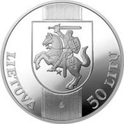 Lithuania 50 Litu XXVII Olympiad in Sydney 2000 Proof KM# 124 LIETUVA LMK 50 LITŲ coin obverse
