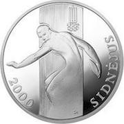 Lithuania 50 Litu XXVII Olympiad in Sydney 2000 Proof KM# 124 2000 ŽA SIDNEJUS coin reverse