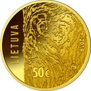Lithuania 50€ Movement for the Struggle for Freedom of Lithuania 2019 LMK Proof LIETUVA 2019 LMK 50€ coin obverse