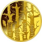 Lithuania 50€ Movement for the Struggle for Freedom of Lithuania 2019 LMK Proof LIETUVOS LAISVĖS KOVOS SĄJŪDIS coin reverse