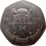 Ireland 50 Pence 1988 KM# 26 Decimal Coinage coin reverse