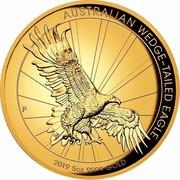 Australia 500 Dollars Australian Wedge-Tailed Eagle 2019 AUSTRALIAN WEDGE-TAILED EAGLE P 2019 5OZ 9999 GOLD coin reverse
