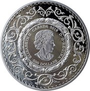 Canada 500 Dollars Brilliant Mastery in Canada 2019 ELIZABETH II CANADA 2019 D • G • REGINA 500 DOLLARS coin obverse