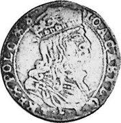 Lithuania 6 Groszy 1666 TLB KM# 51.1 Standard Coinage coin obverse