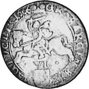 Lithuania 6 Groszy 1666 TLB KM# 51.1 Standard Coinage coin reverse
