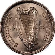 Ireland 6 Pence 1935 KM# 5 Sterling Coinage SAORSTAT ÉIREANN 19 28 coin obverse